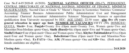 fpsc-national-savings-officer-syllabus-test-pattern-past-papers-free-download