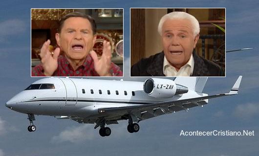 Predicadores de la prosperidad usan avion privado