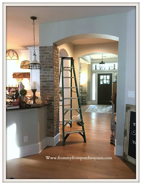 DIY Brick Project-Archway-thin-brick-french-countey-farmhouse-From My Front Porch To Yours