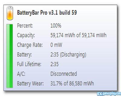 Check The Battery Health Using BatteryBar
