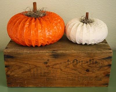 calabaza para halloween creada con un conducto de ventilación
