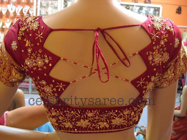 New trendy blouse back neck designs