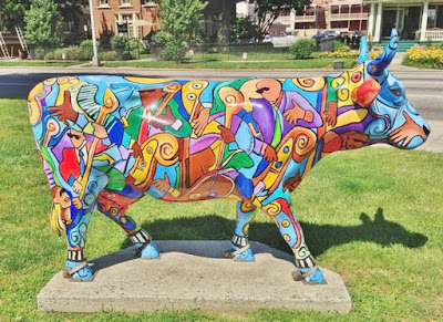 Cow Parade - Music COW Extravaganza Street Art in Harrisburg, Pennsylvania