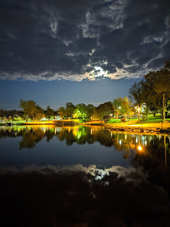 Wentworth Park At Night, Sydney, Cape Breton Island