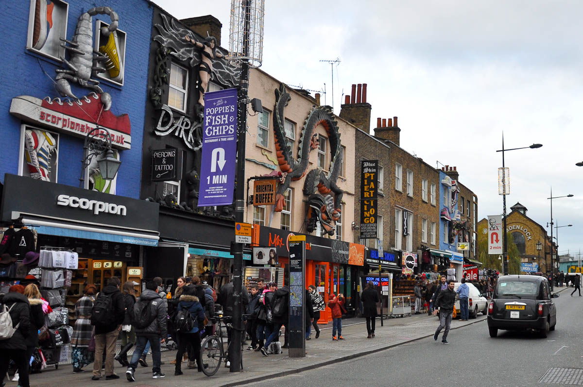 Camden High Street, Camden Town, London, England