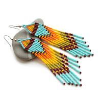 куплю серьги из бисера в этническом стиле цена стоимость онлайн почтой интернет магазин