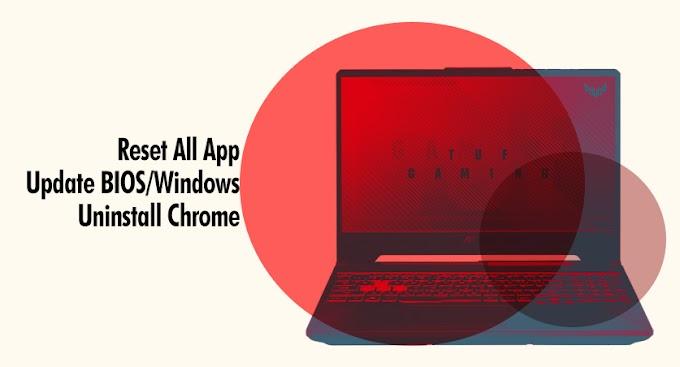Cara Mengatasi Hang/Freeze Pada Laptop Asus TUF Gaming
