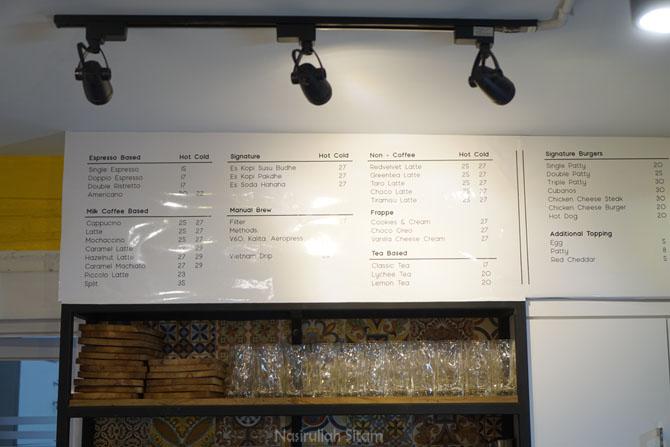 Daftar harga dan menu di Kedai Kopi Rumah Budhe Jogja