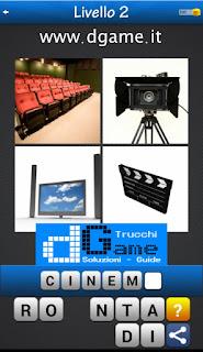 Trova la Parola - Foto Quiz con 4 Immagini e 1 Parola pacchetto 1 soluzione livello 2