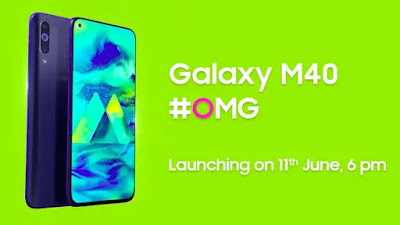 Samsung Galaxy M40 will be launched on June 11