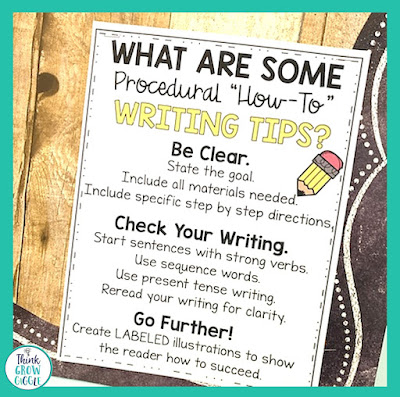 how to writing anchor chart grade 3, 4, 5