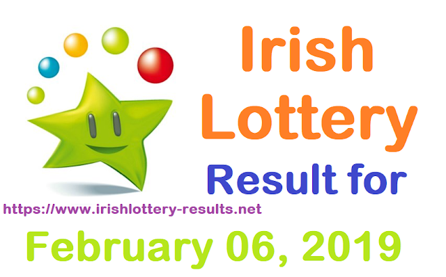 Irish Lottery Results for Wednesday, 06 February 2019