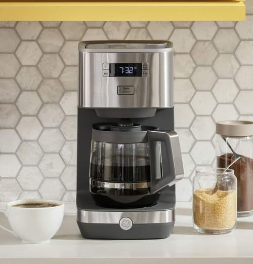 GE Drip Coffee Maker with 12-Cup Glass Carafe