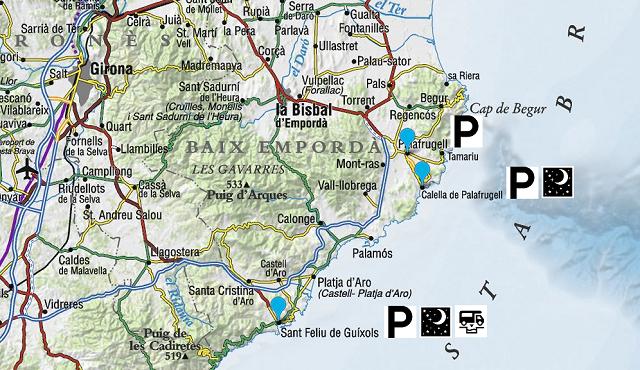 Mapa dels llocs visitats