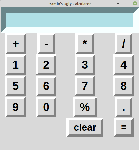 Python3 GUI calculator using Tkinter