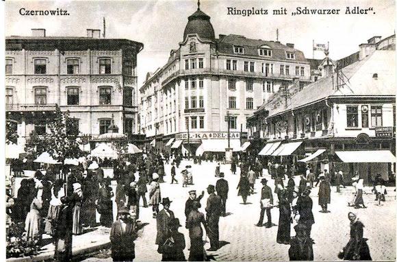 Чернівці. Центральна площа. Ringplatz в австрійський період