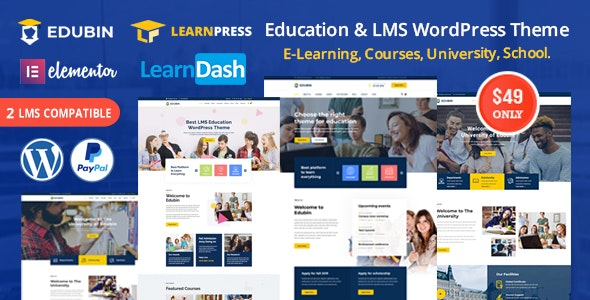 Edubin v6.0 Education LMS WordPress Theme Download Free Nulled