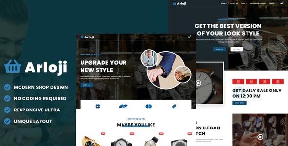 Best Modern Hand Watch Shop eCommerce Elementor Template Kit