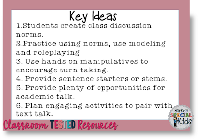 Key ideas for text discussion