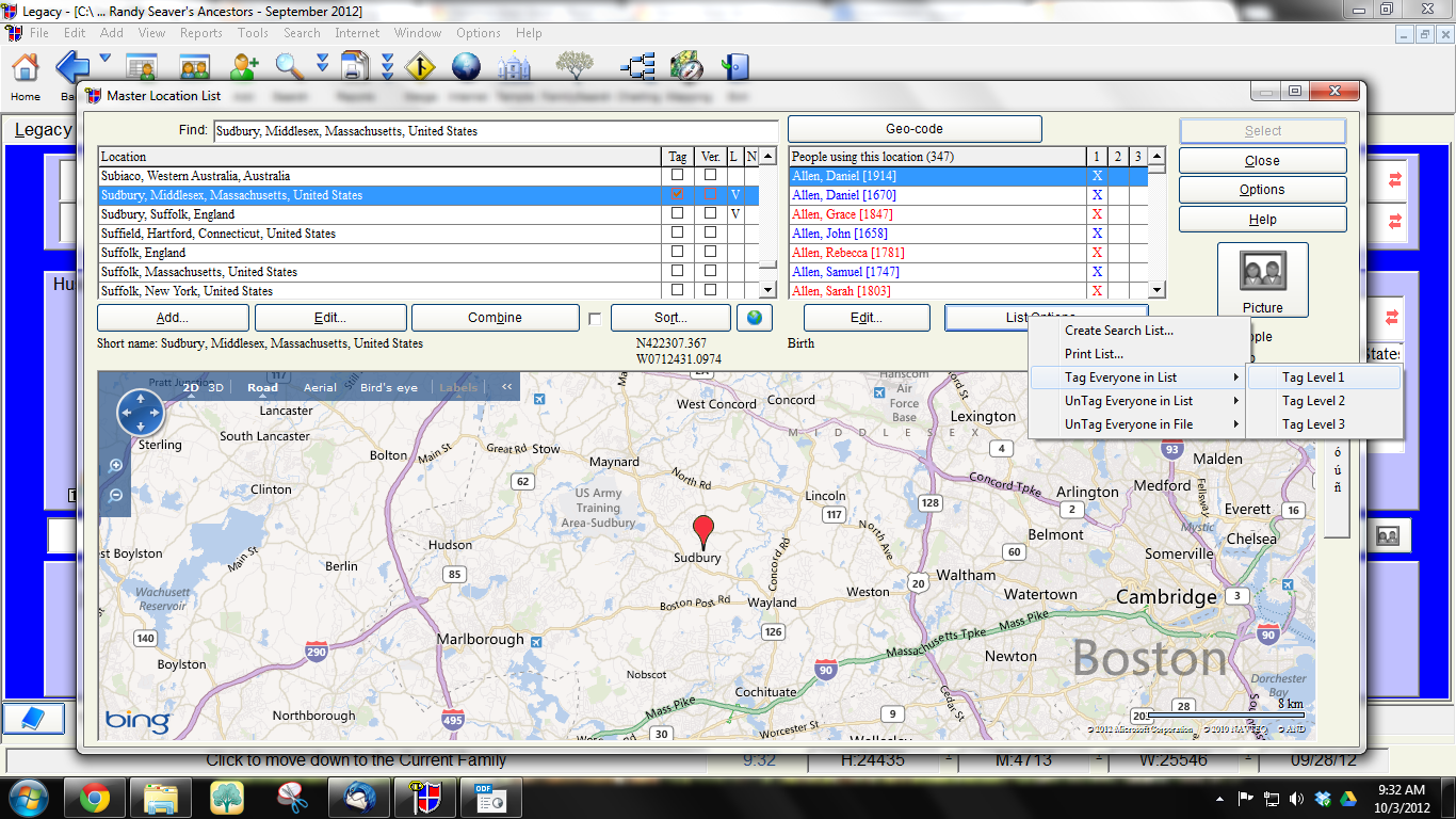 Genea-Musings: Creating a Specific Place List Report in