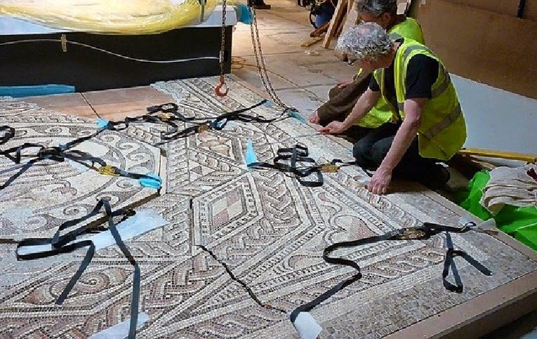 Roman mosaic on show after 1,700 years