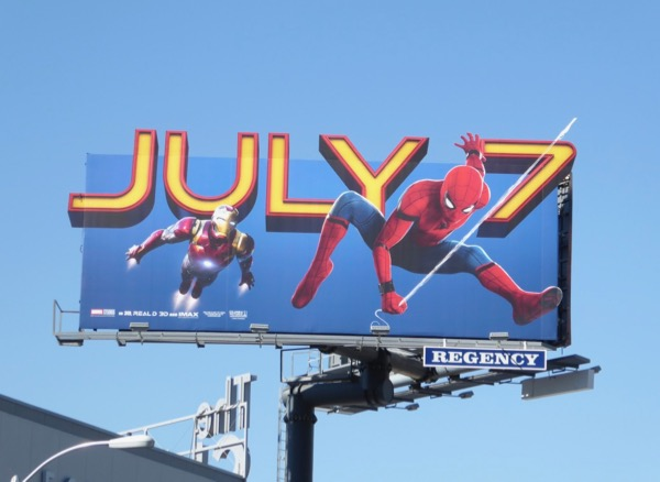 Spiderman Homecoming extension cutout billboard