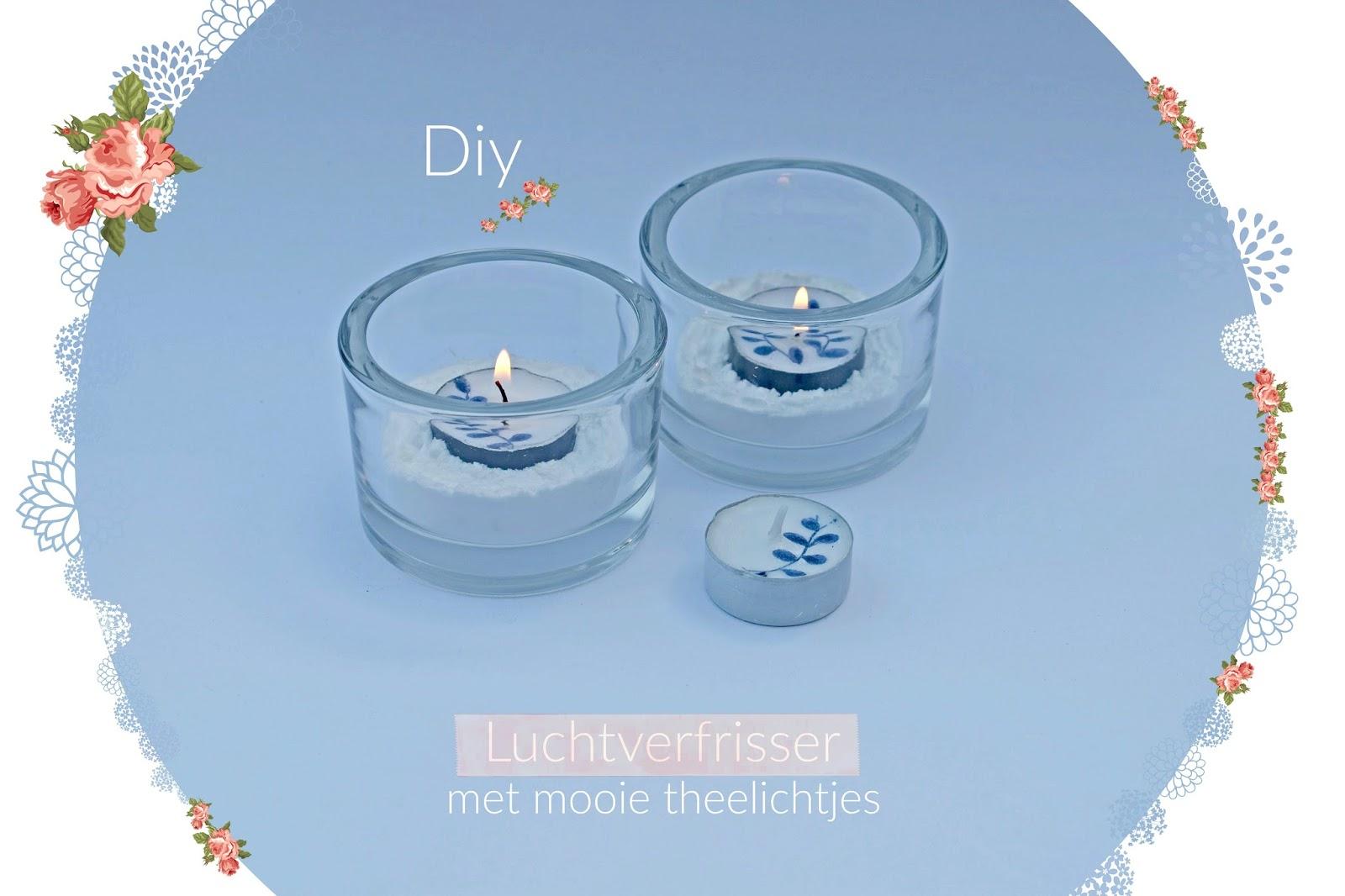 Luchtverfrisser zelf maken, met mooie theelichtjes - Diy