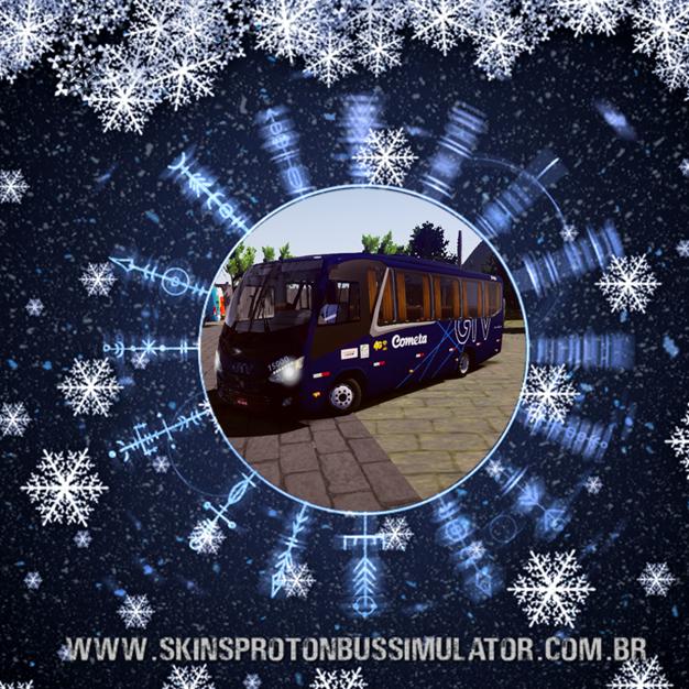 Skin Proton Bus Simulator - New Senior MB LO-916 BT5 Viação Cometa