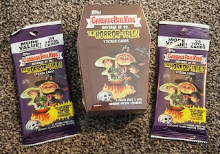 Garbage Pail Kids Halloween-themed Revenge of Oh the Horror-ible trading cards