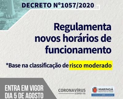 Decreto 1.057/2020 da Prefeitura de Maringá. Café com Jornalista