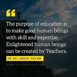 Dr APJ Abdul Kalam Quotes on Education