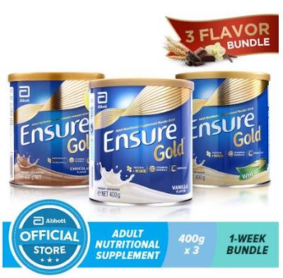 Ensure Gold HMB 3 Flavor Bundle- Wheat, Chocolate and Vanilla 400g