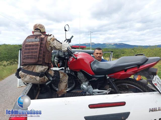 GTO Caraúbas prende casal após assaltar moto em Umarizal