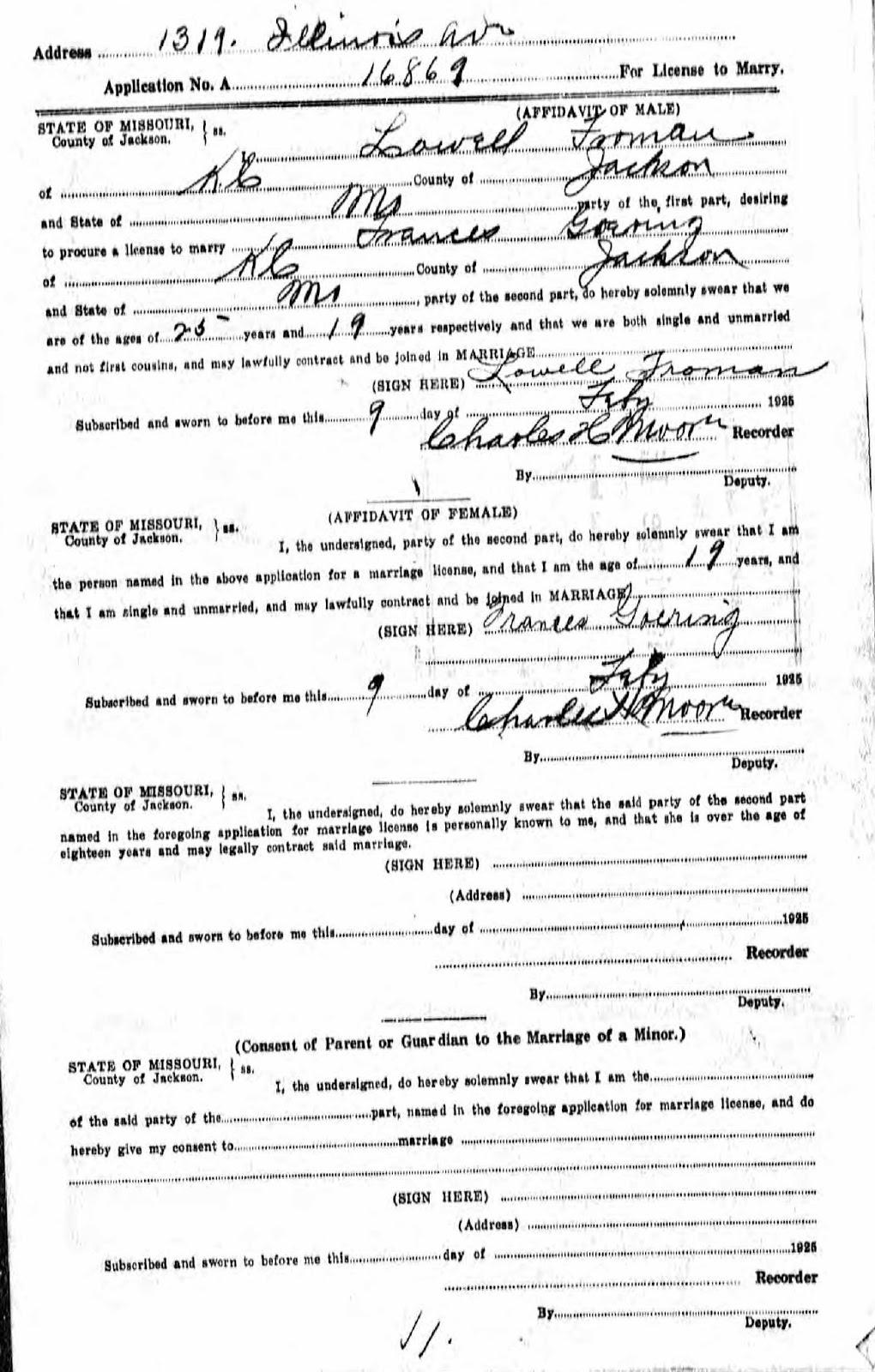 DearMYRTLE's Genealogy Blog: When were Frances Irene