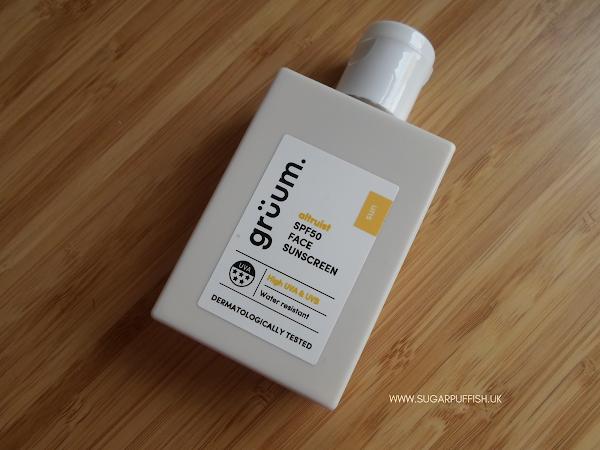 Review Grüum SPF50 5* UVA Dermatologist Face Sunscreen
