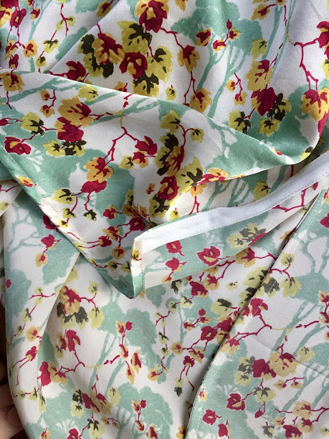 Diary of a Chain Stitcher: Liberty Silk Satin Almada Robe