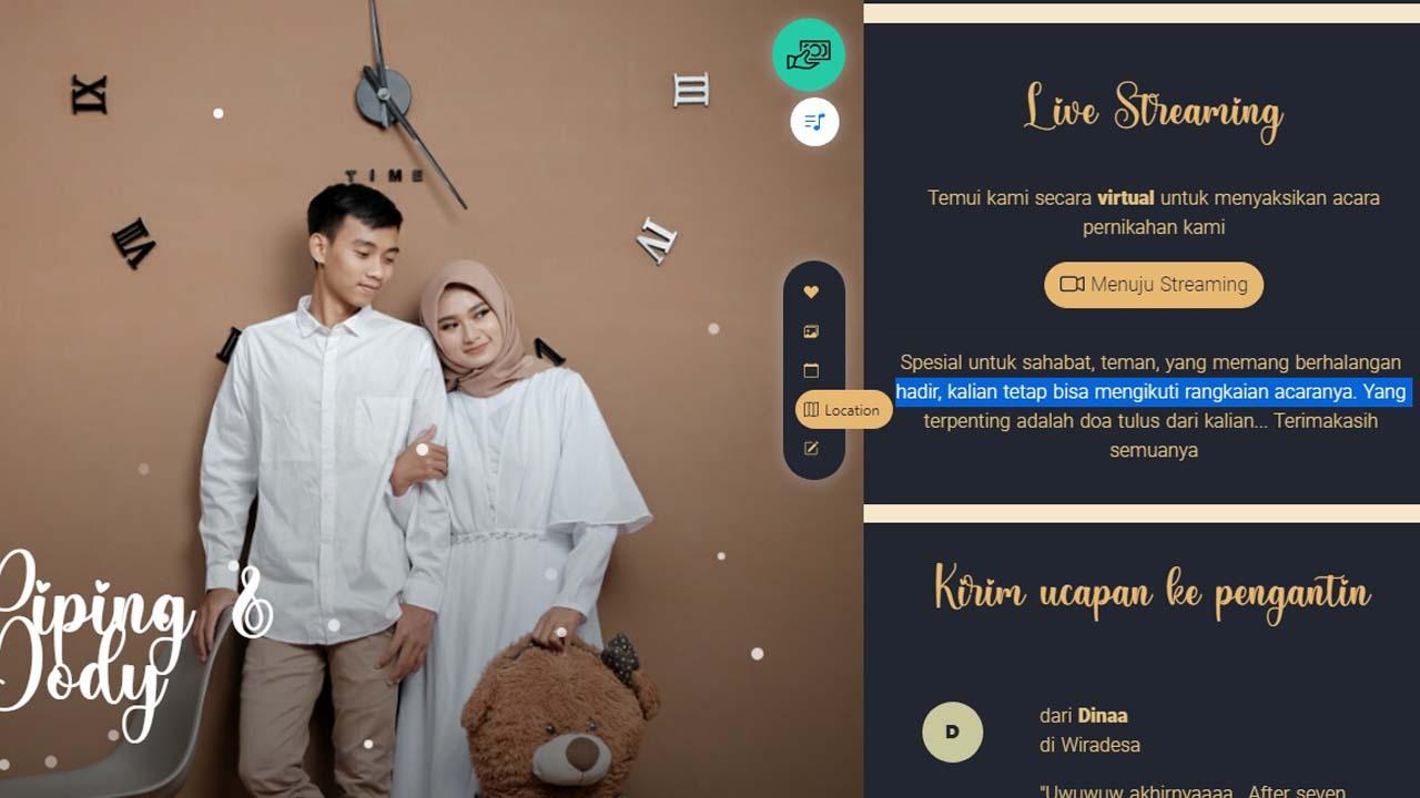 Undangan dan Kondangan Pernikahan Online Kini Mulai Diminati