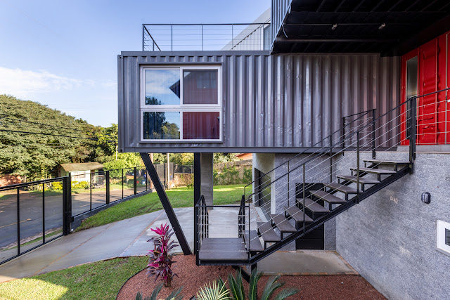 Casa Conteiner RD - 350 sqm Two Story Shipping Container Home, Brazil 22
