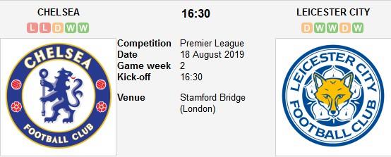مشاهدة مباراة تشيلسي وليستر سيتي بث مباشر 18/08/2019 الدوري الإنجليزي