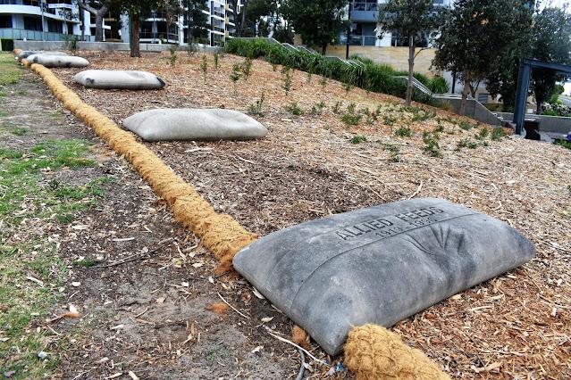Rhodes Public Art   'Allied Feed Sacks' by Jane Cavanaugh