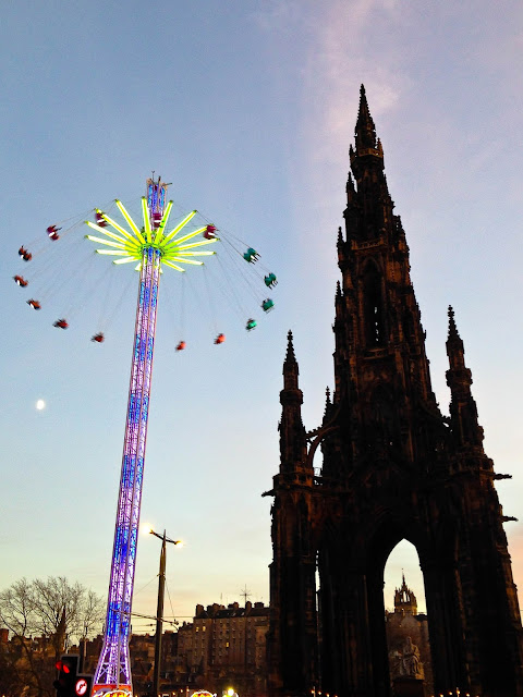 Scott Monument at Christmas