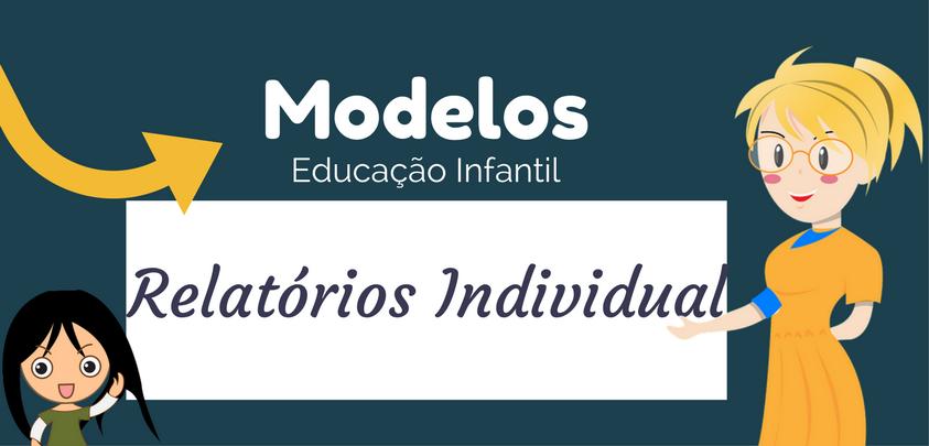Modelos De Relatórios Individual De Aluno Educação Infantil Só