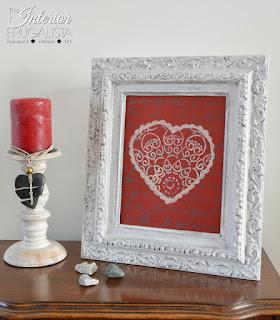 DIY Picture Frame Valentine Art Vignette