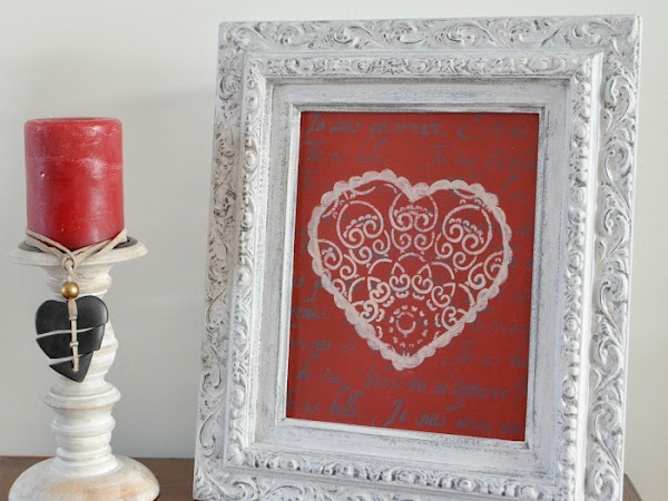 DIY Picture Frame Valentine Art