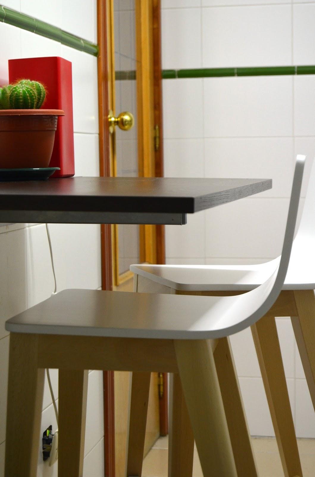 Art & Mañas » Opción de barra plegable si tu cocina es estrecha para ...