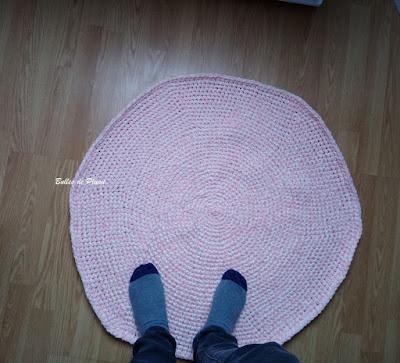 Tapis circulaire au crochet