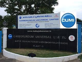 CUMI Campus Recruitment Engineering Trainee Level Jobs