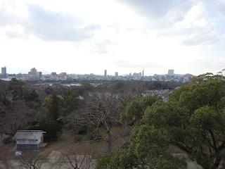 福岡城の天守台から見る景色