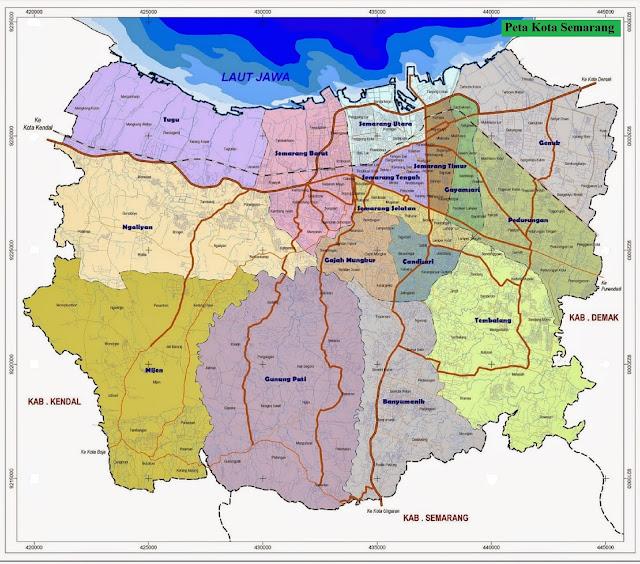 Peta Kota Semarang