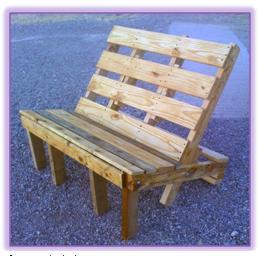 A mi manera qu muebles puedo hacer con tarimas de madera for Muebles de jardin con tarimas